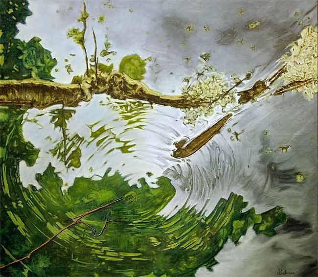 Reflets d'orage, 2003 huile , 114 x 130cm