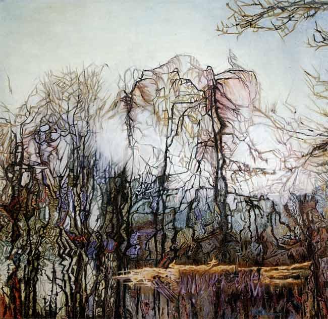 Forêt lyrique, 2003 huile, 131 x 130cm