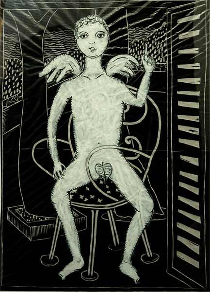 Ange monotype, 60x80cm