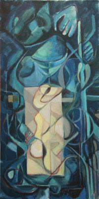 Marie-Pierre Mutzenberg, Acrylique, 60x60