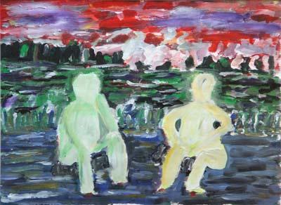 Gilbert Künzi, Acrylique 39x29