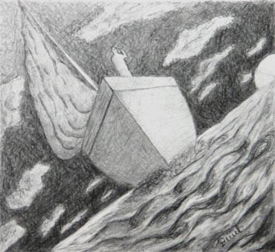 Elisabeth Tchourakova, Dessin/Crayon, 20x23