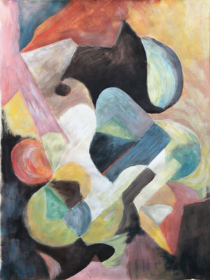 Myriam Rakuschan, Acrylique, 48x65