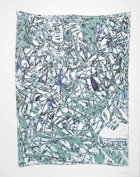 Tigresses aux algues, 2006 Huile, 73x92cm