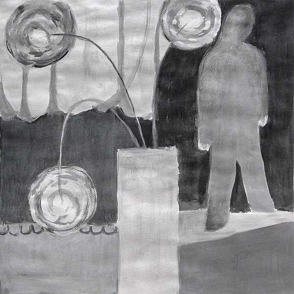 Marianne Cornu, Répartition des masses (intérieur), 43x43cm