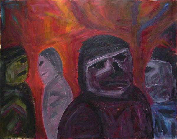 Aurel Storno, Etude (rytme ovoïdal), 32x40cm
