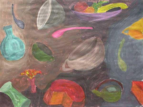 Aurel Storno, Etude pour rythme ovoïdal 2, 24x31cm