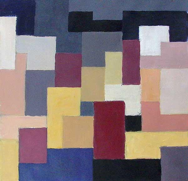 Martin-Paul Broennimann, Etude de rythme, 39x41cm