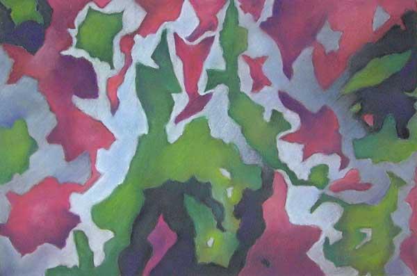 Robin Borzilo, Structure rythmique (calcul de surface), 30x45cm
