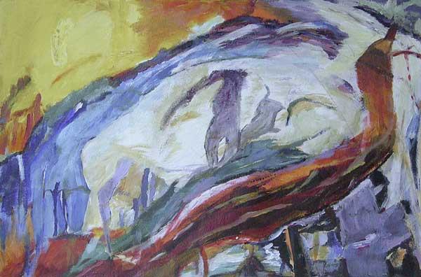 Chantal Summermatter, Rythmes structureaux (retour par les côtés), ~21x33cm