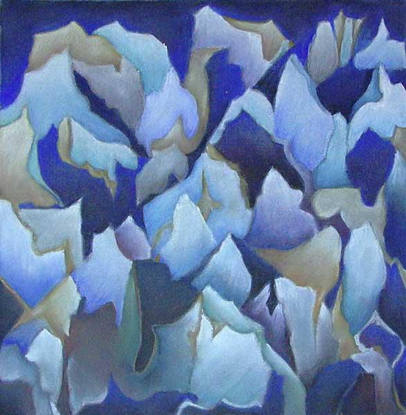 Robin Borzillo, Structure rythmique (Croissance florale), 30x30cm