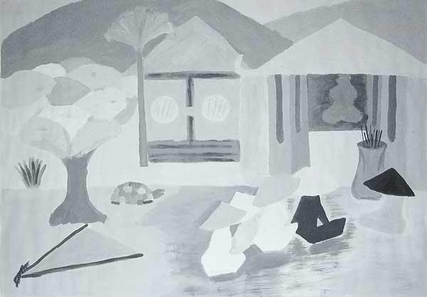 Raluca Perju-Hubert, Harmonisation des formes (Souvenir d'orient), 50x65cm