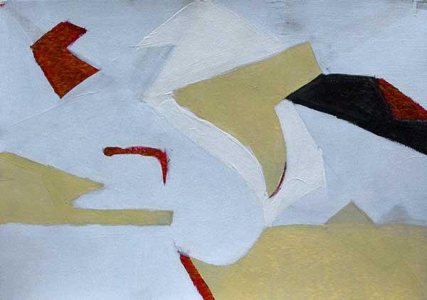 Nathalie Nath, Structure avec animation rythmique (cercle), 29x42cm