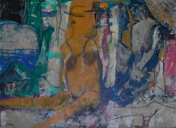 Vacances baignade (1987) 145 x 110