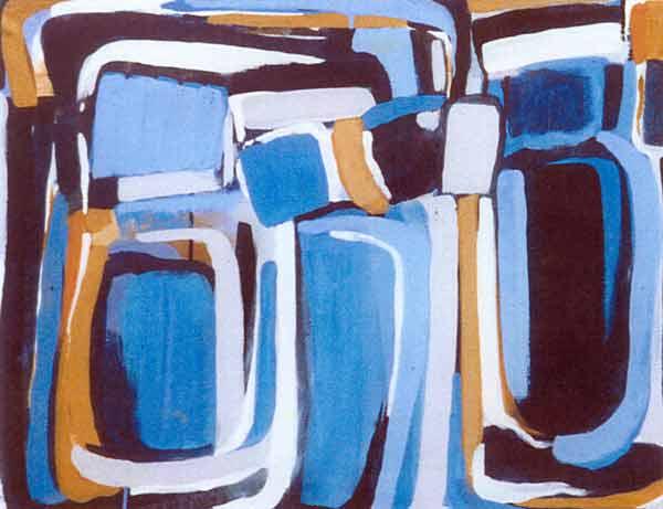Toile, 2002 Pigments et gouache, 55x71cm