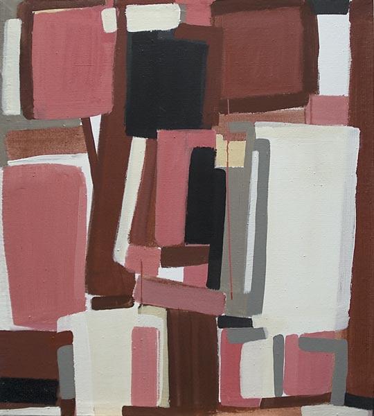 Toile, 2007 Pigments et liant acrylique, 80x90cm