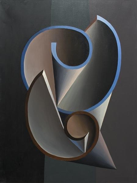 no 50 de la 8ème série de la métamorphose 80 x 60 cm, acrylique sur toile, Paris 1984-85