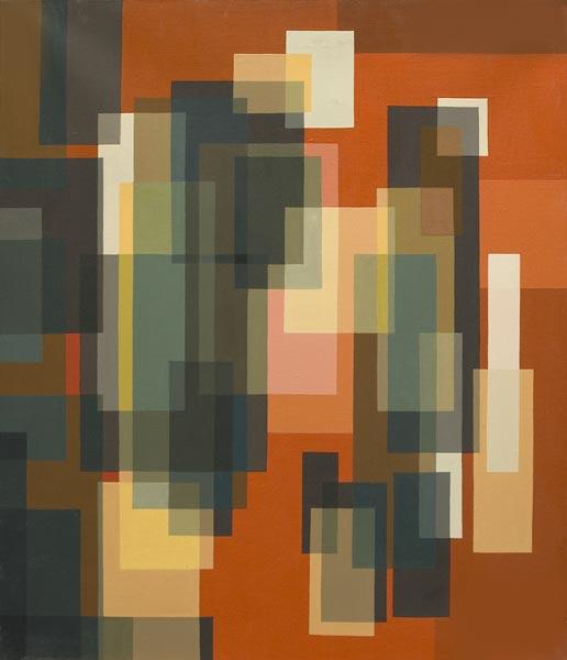 no 26 de la 7ème série de la métamorphose 65 x 54 cm, acrylique sur toile, Paris 1982