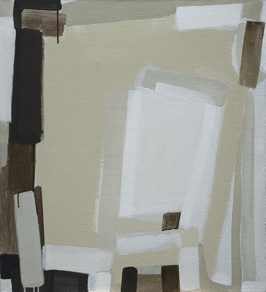 Toile, 2008 Pigments et liant acrylique, 73x80cm