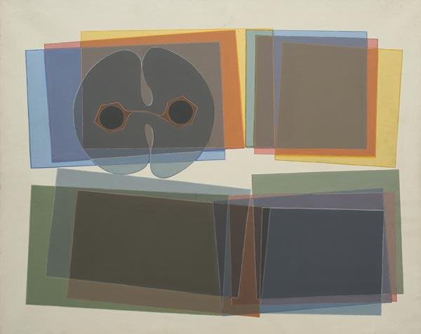 no 45 de la 6ème série de la métamorphose, 60 x 73 cm, acrylique sur toile, Paris 1978