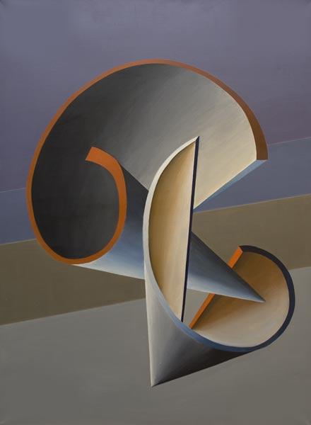 no 46 de la 8ème série de la métamorphose 100 x 73 cm, acrylique sur toile, Paris 1984-85