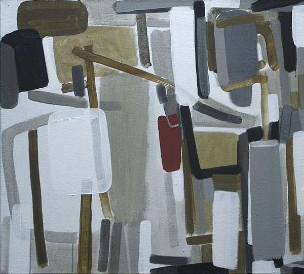 Toile, 2008 Pigments et liant acrylique, 90x81cm