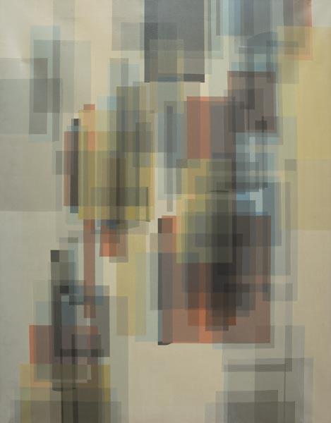no 8 de la 7ème série de la métamorphose acrylique sur toile, Paris 1982