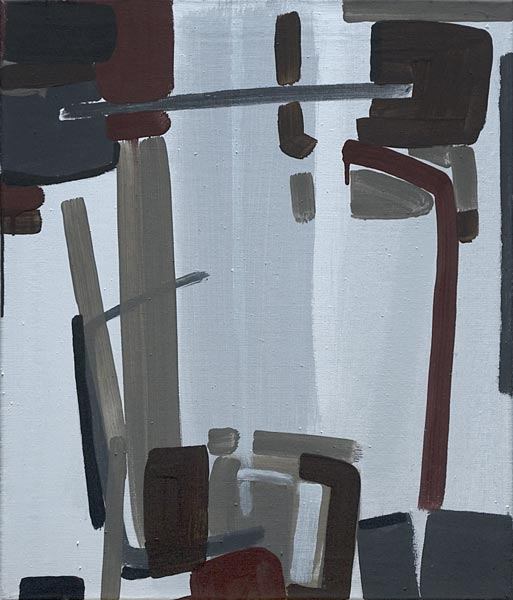 Toile, 2008 Pigments et liant acrylique, 55x65cm