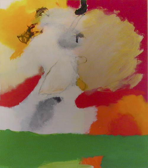 Sans titre - 2002 acrylique et pigments sur toile 120x100