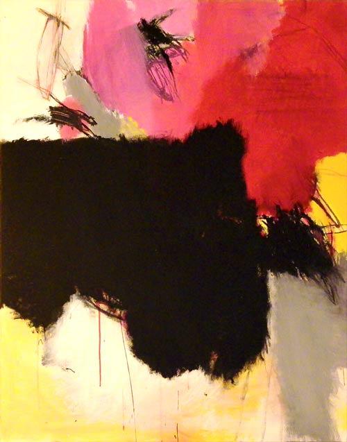 Sans titre - 2000 acrylique et pigments sur toile 116x89