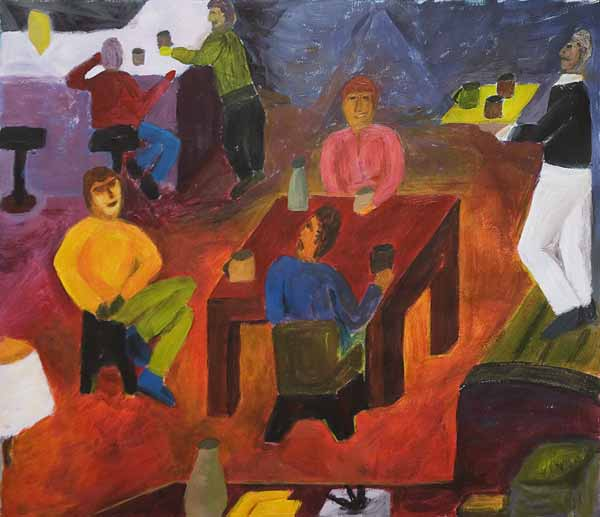 Aurèle STORNO, « S.t. », 36x42cm, acrylique sur papier