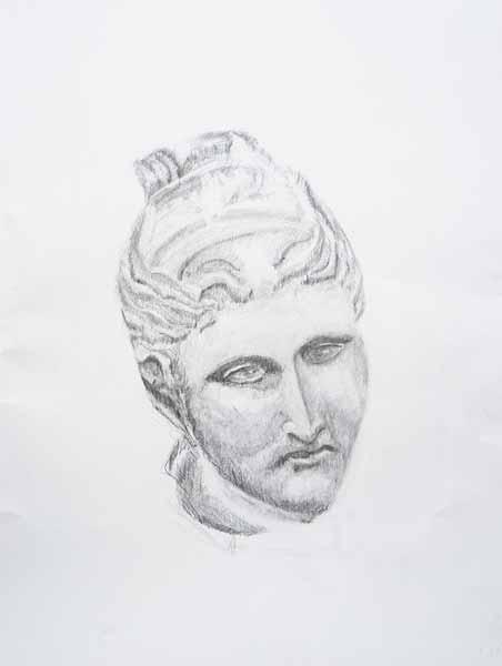 Jean-Jacques NUSSBERGER, « Diane » , 65x50 cm, dessin sur papier