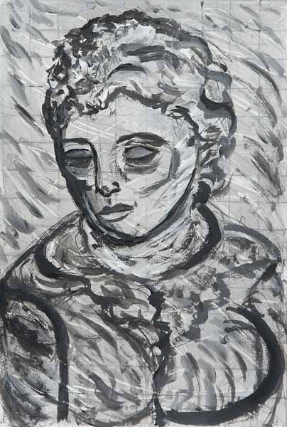 Anna GAILLARD « Portrait » 30x20 cm acrylique sur papier