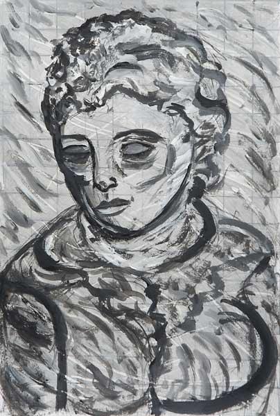 Anna Gaillard, « Portrait », 30x20cm, acrylique