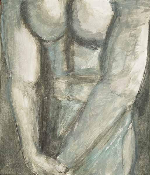 Roger DUBOIS « Torse V »* 55x47 cm acrylique sur papier
