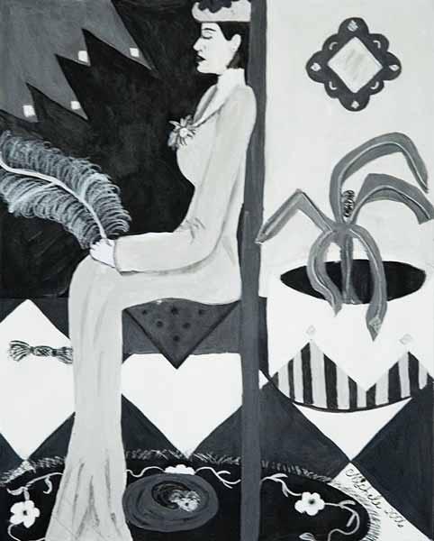 Michele HARTE « Vers la sérénité »* 31x25 cm acrylique sur papier