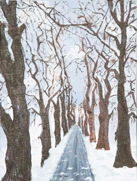 Najoua Ben Chaabane, « Perspective rafraîchissante », 24x18cm, acrylique sur toile