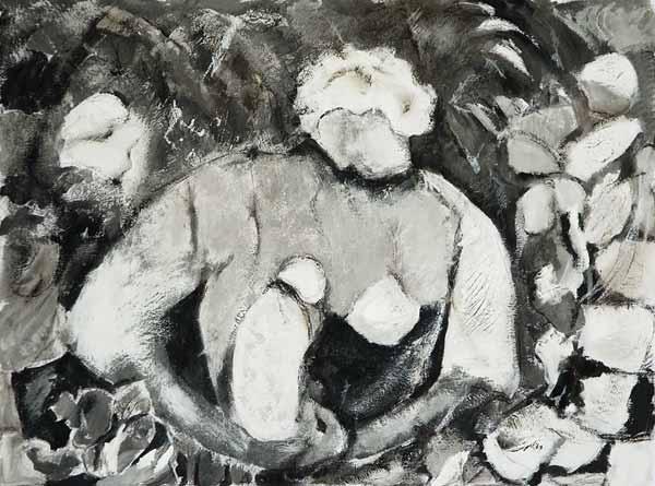 Marie-Pierre MUTZENBERG, « Maternité »*, 30x40cm, acrylique sur papier