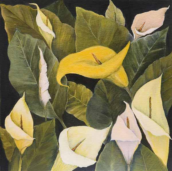 Robin BORZILLO « S.t. » 39x39 cm acrylique sur papier