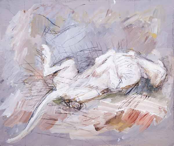 Alja MRAK-TADEL « A dog »* 40x47 cm acrylique sur carton