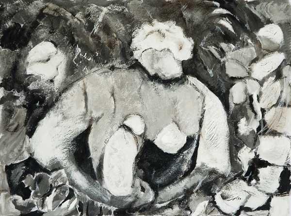 Marie-Pierre Mutzenberg, « Maternité », 30x40cm, acrylique