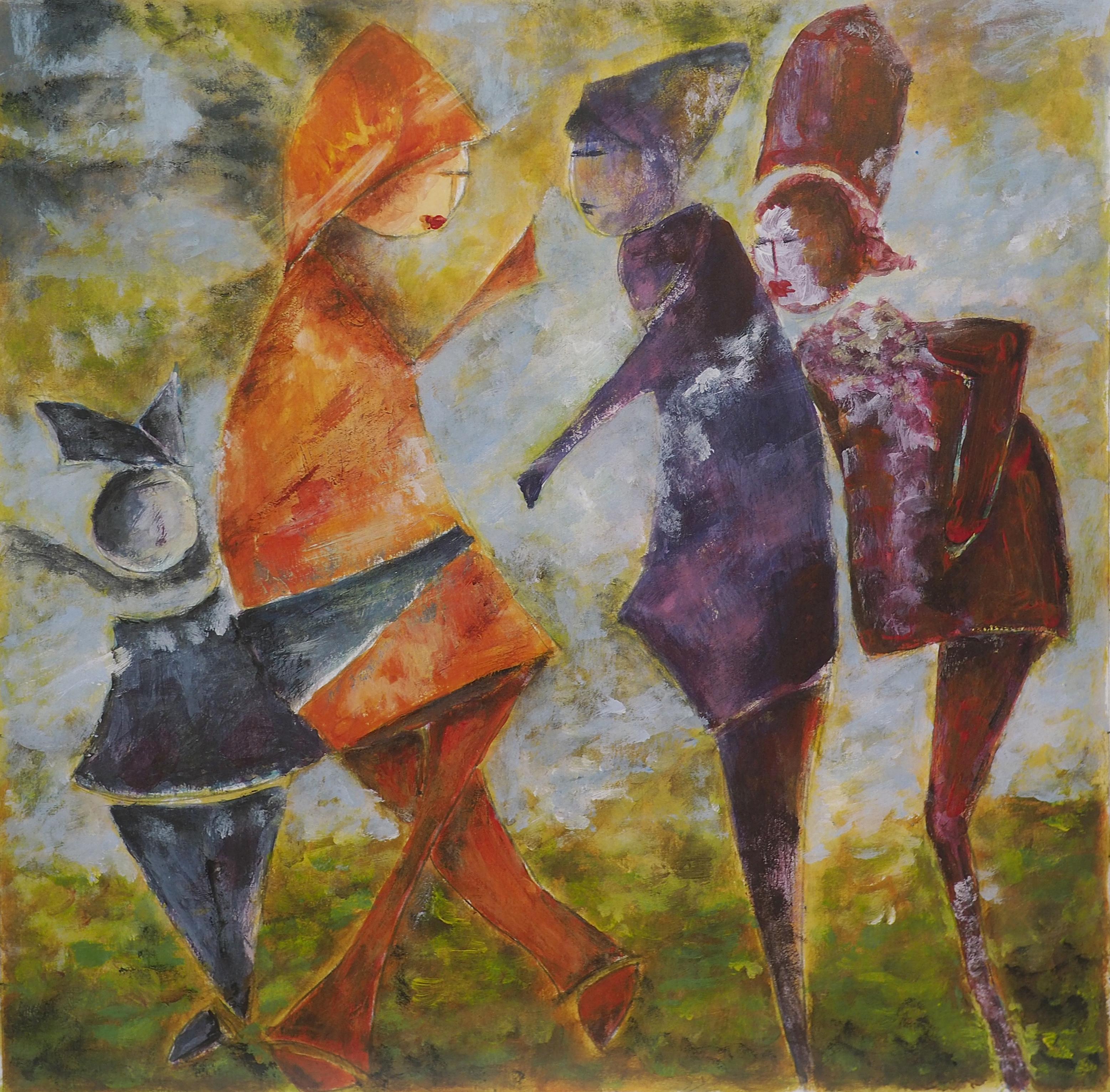 Pascale Ramain, acrylique, 28x28