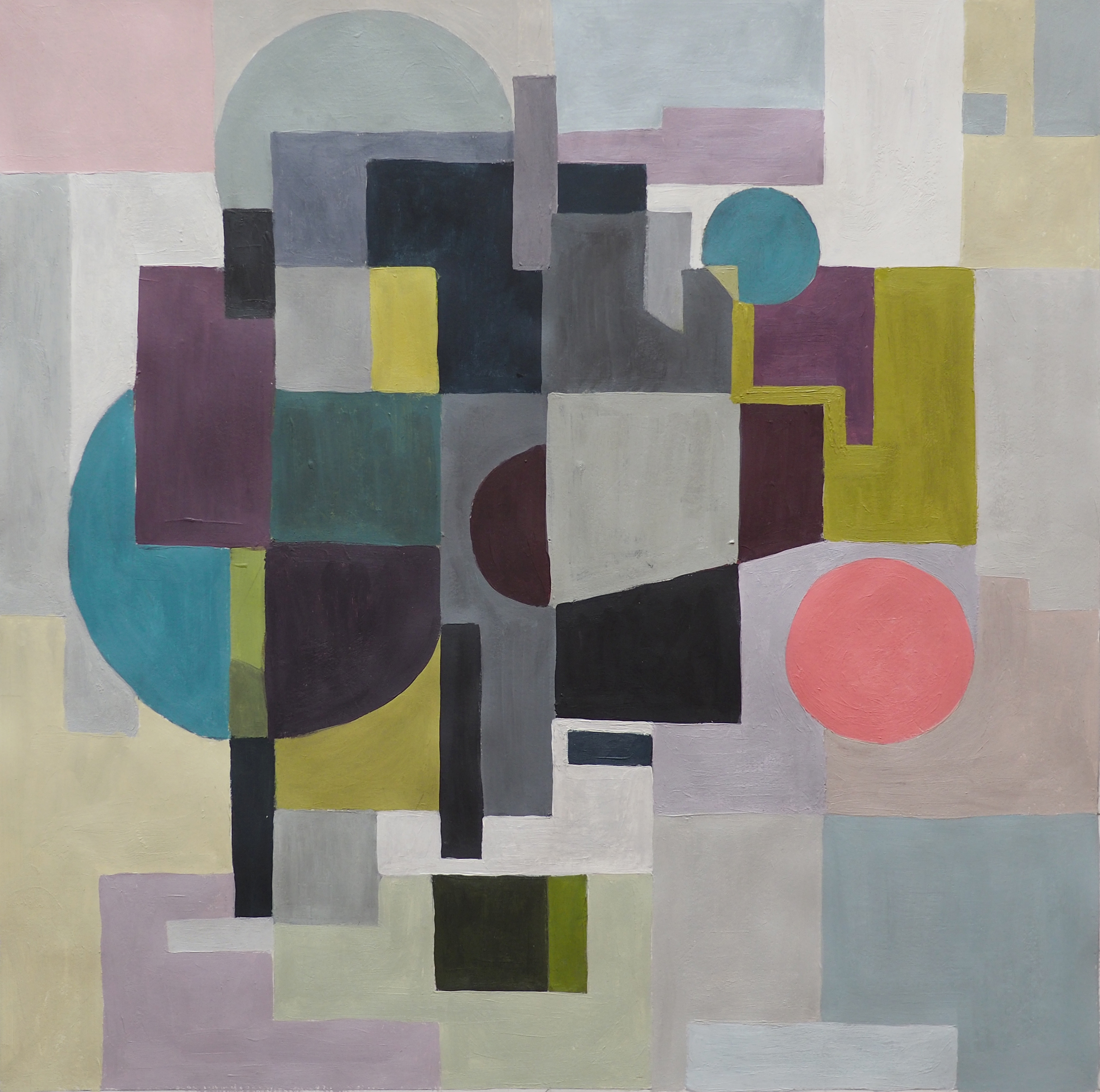Pascale Ramain, acrylique, 40x40