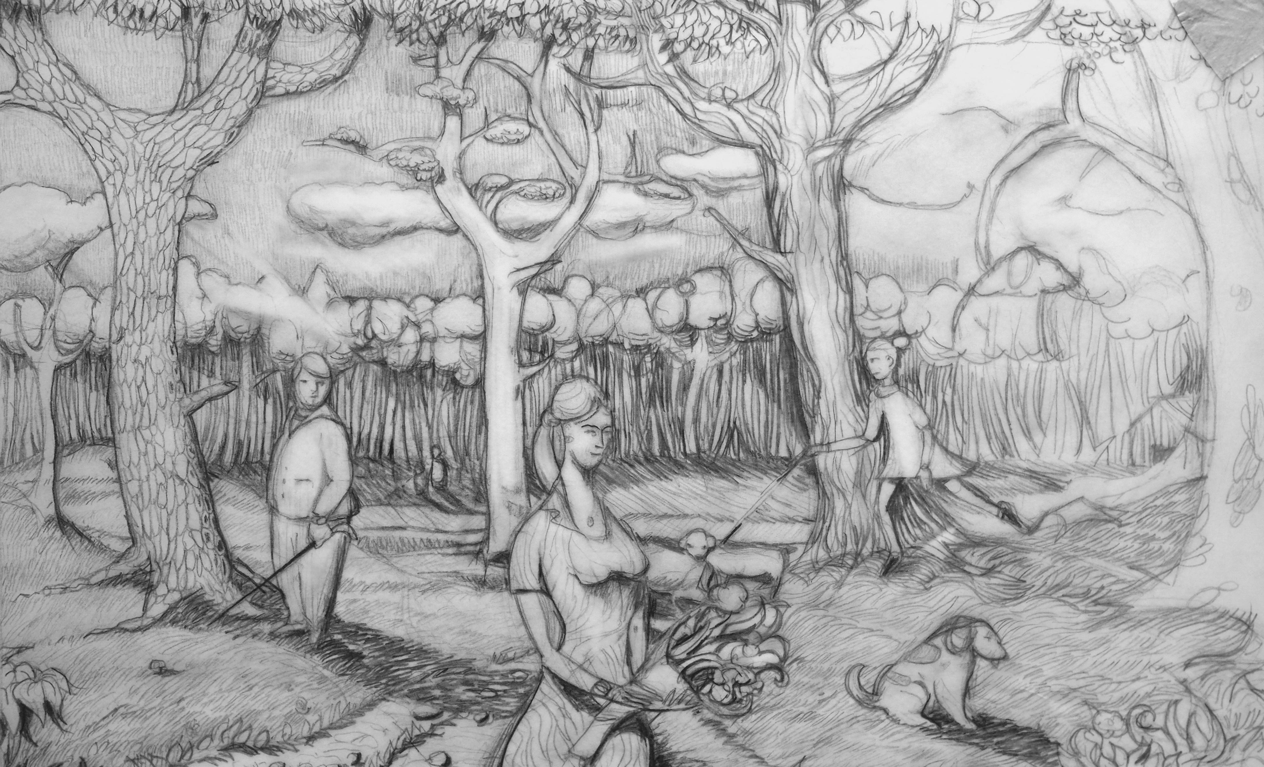 Marc Mortera, crayon, 35x50