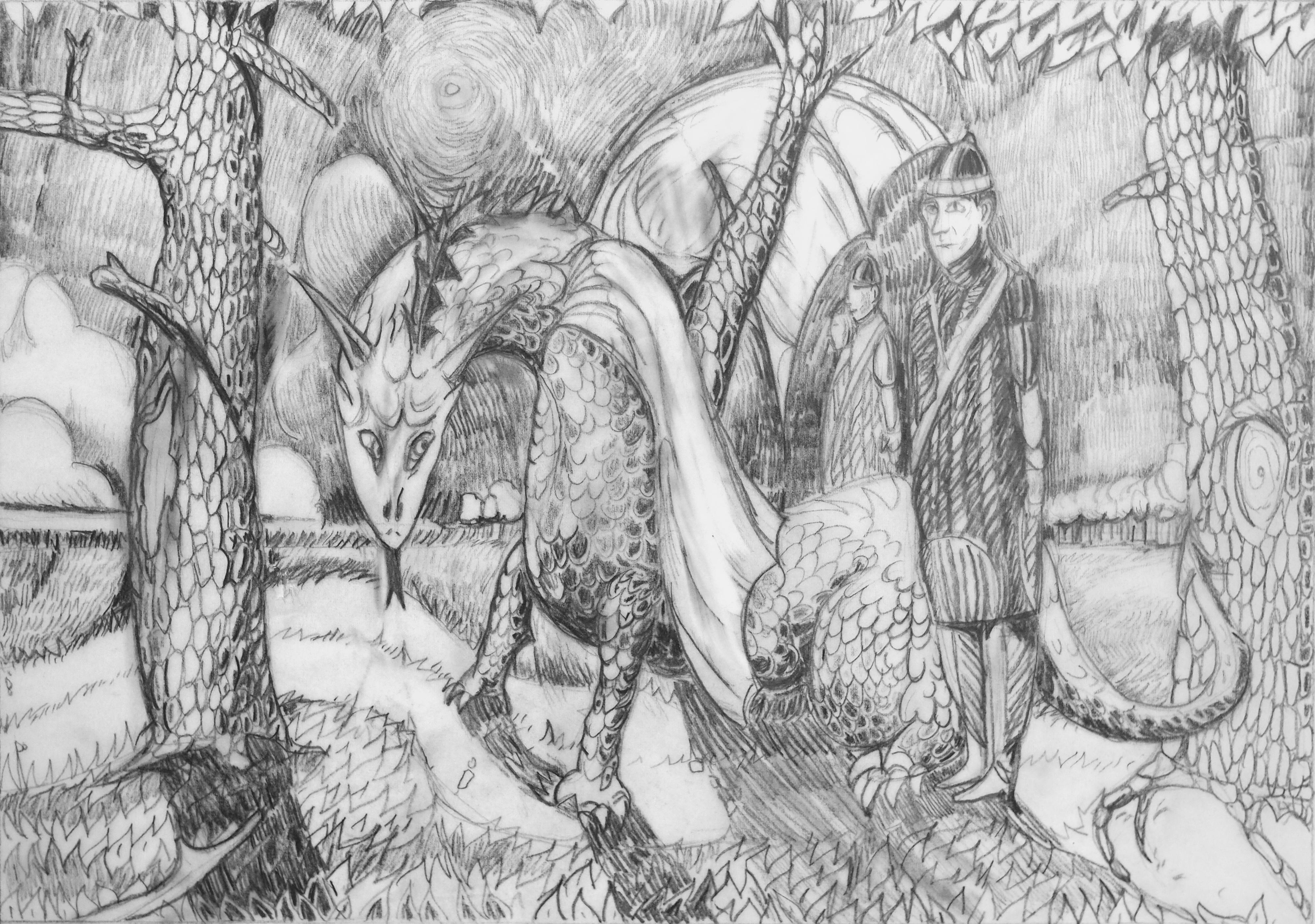 Marc Mortera, crayon sur calque, 21x30