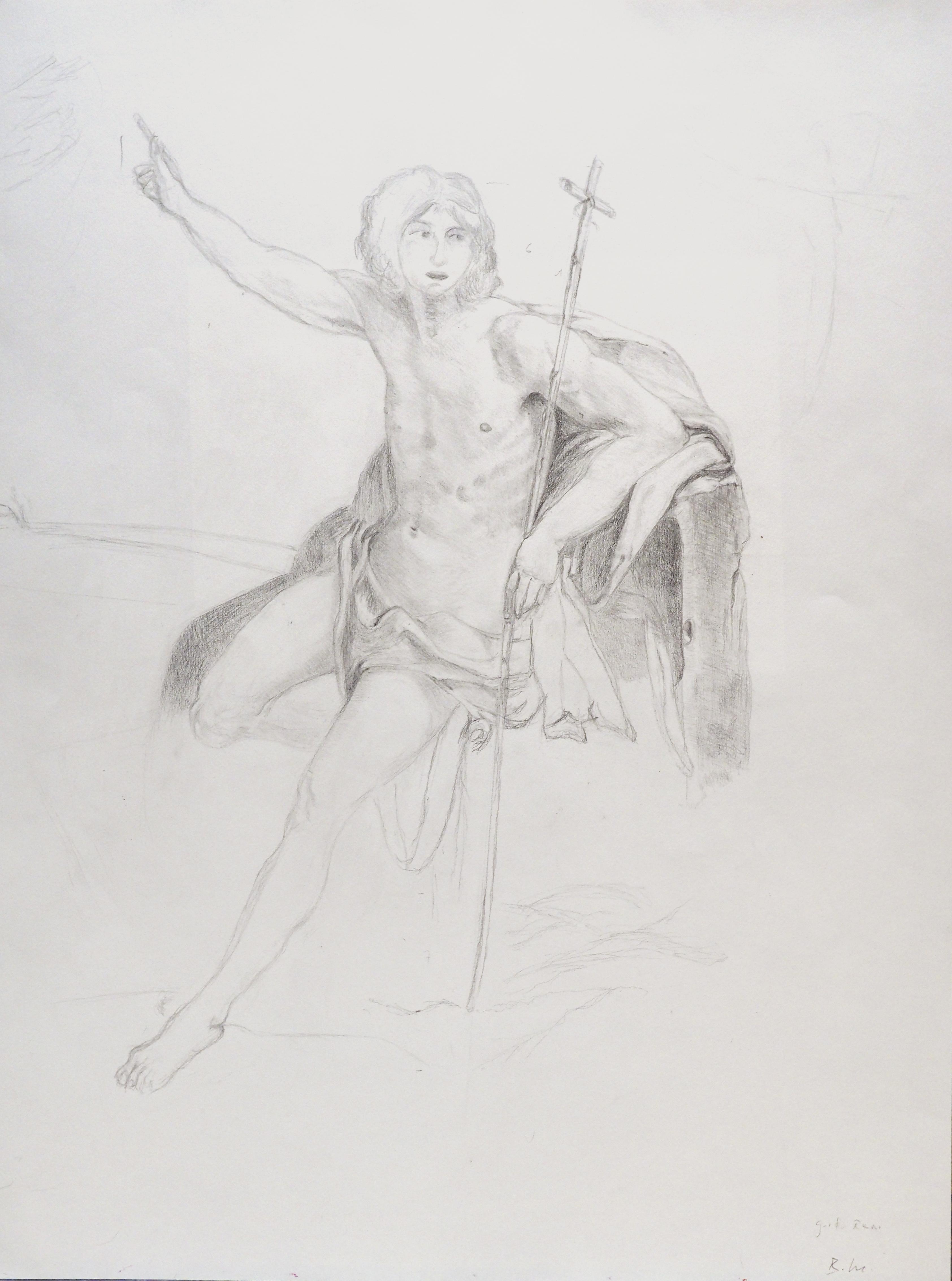 Brigitte Manz, crayon, 50x65