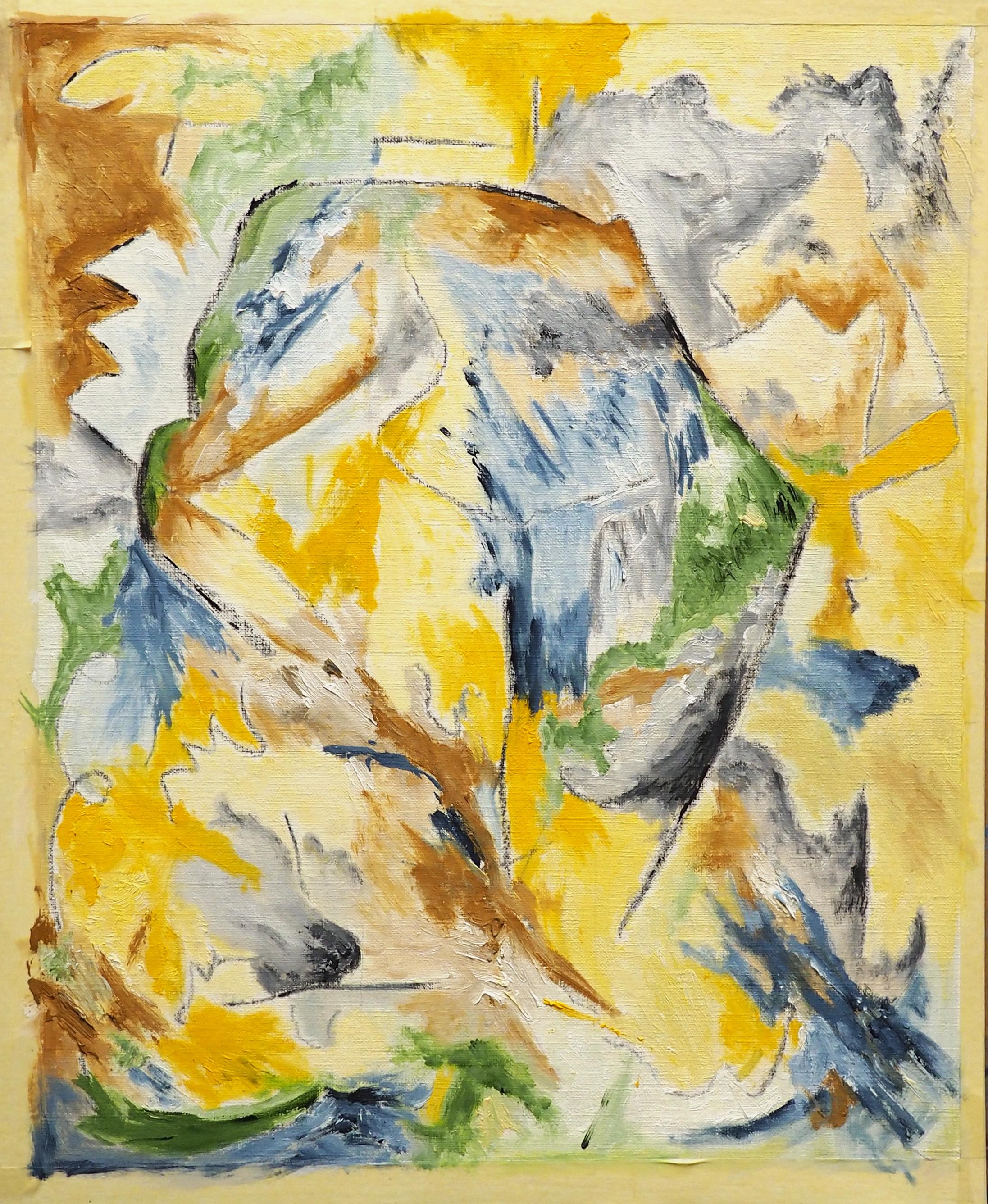 Daniel Gayraud, huile, 38x30