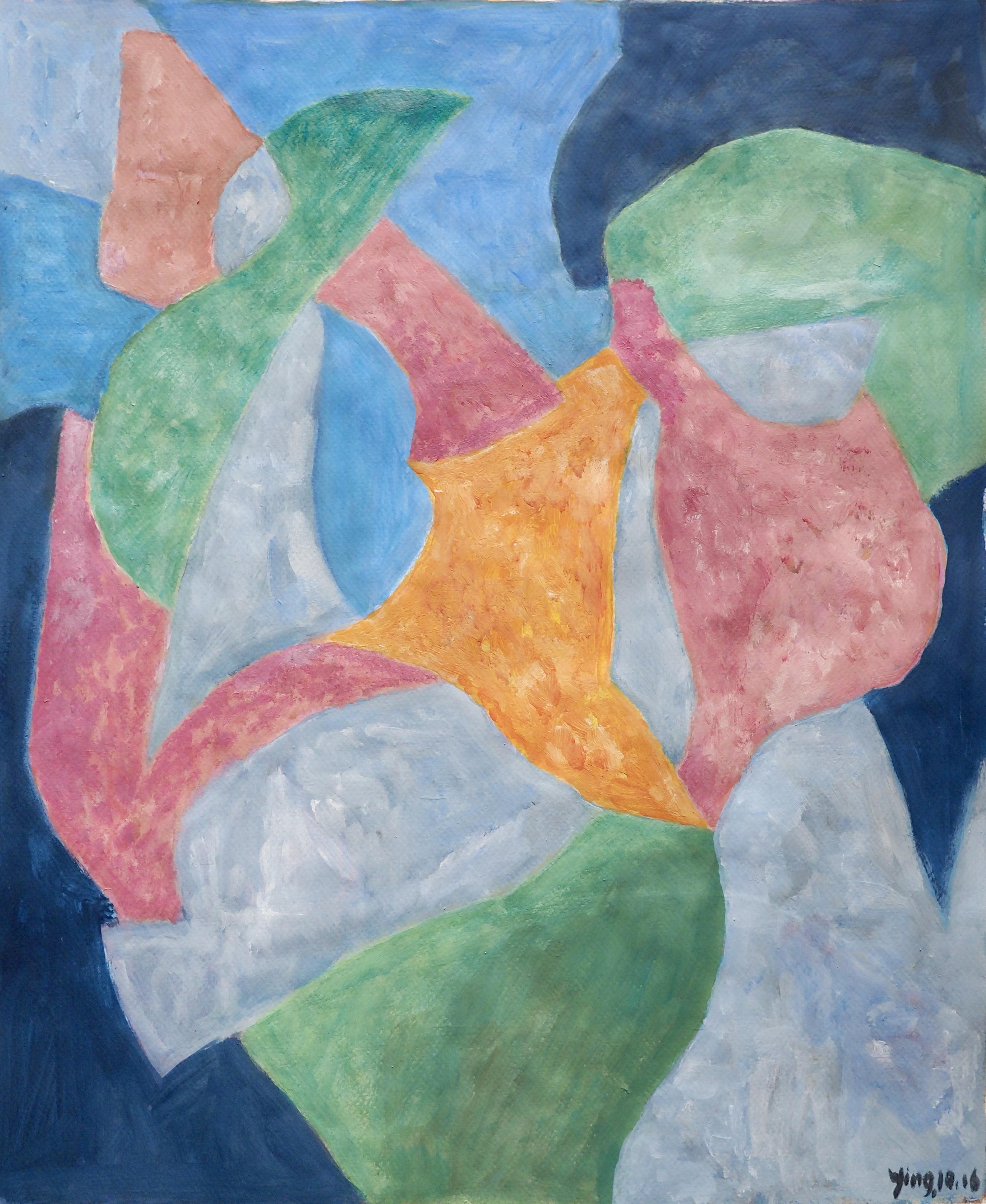 Chu Ying acrylique, 50x40