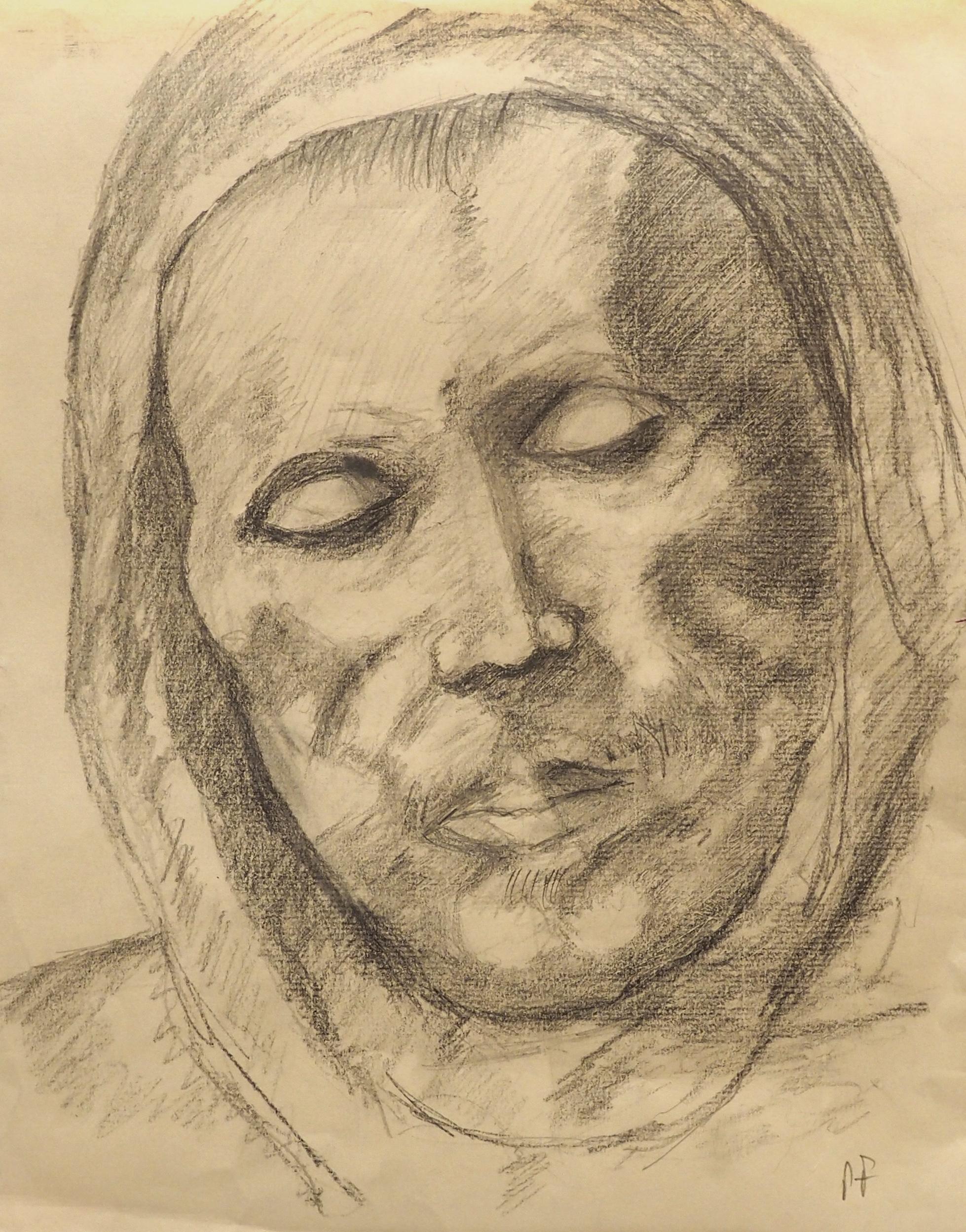 Pierre Favre, crayon, 32x25