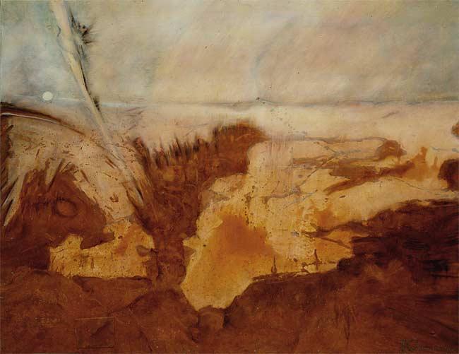 Aurore, 2000 huile, 100 x 80cm
